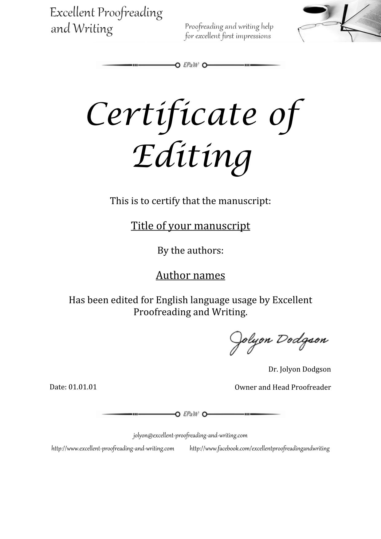 The Excellent Proofreading And Writing Service For Your Documents