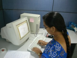 Often academic and professional writing will be done at a computer.
